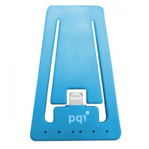 Pqi i-Cable Stand Apple Certified MFI iPhone Stand with Lightning Connector Blue
