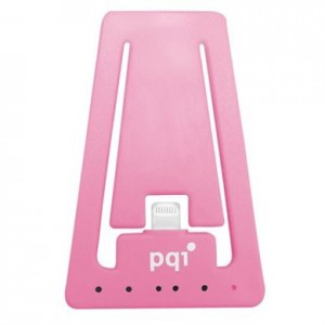 PQI i-Cable Charging and Sync Stand for Apple Lightning Devices - Pink Edition