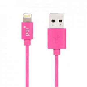 PQI i-Cable Lightning 90cm, Apple MFi-Certified, Pink