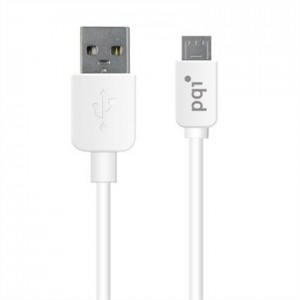 PQI U-Cable MicroUSB 120c,, for Andriod Devices, White