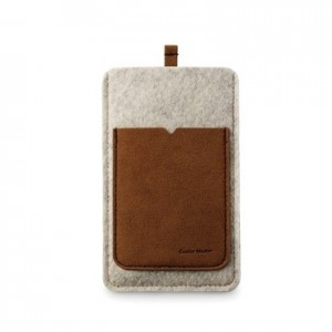 Cooler Master Dorest Pouch, for iPhone 4, Suede/Leather, Grey pouch
