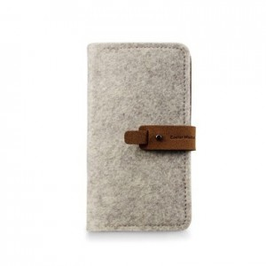 Cooler Master Exmoor Folio, for iPhone 4, Suede/Leather, Grey pouch