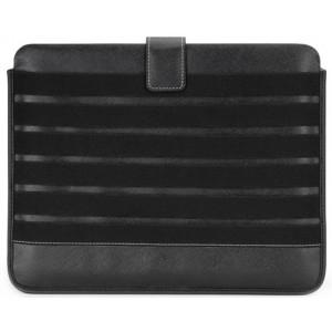 Cooler Master PU C-IP0V-PL6E-KK Leather Sleeve(6 elastics) for iPad2/iPad Front/Back (Black)