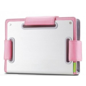 "Choiix Ergonomic Metal Sleeve, for 7""-8.9"", Silver/Pink"