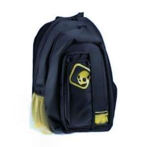 11d96b1bb929 Skullcandy AP3 Audio Link Backpack - Black and Yellow