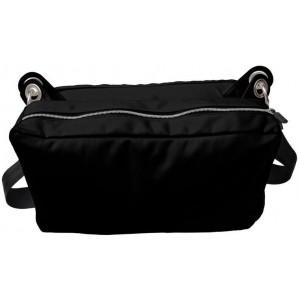 VAX Barcelona Ramblas PVC/ Microfiber Messenger Saddlebag - Black
