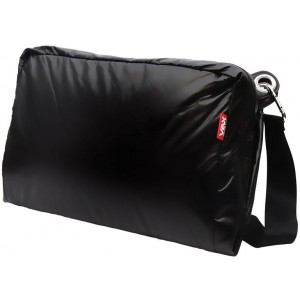 VAX Barcelona Ramblas Umbrella Fabric/Nylon Messenger Saddlebag - Black