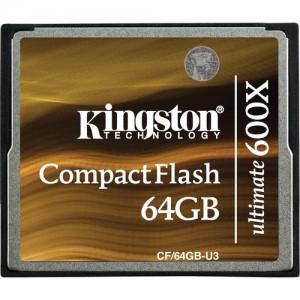 Kingston 64GB CompactFlash Memory Card Ultimate 600x