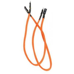 BitFenix Alchemy Multisleeved Cable, 2Pin I/O Extension Cable, 30cm, Orange