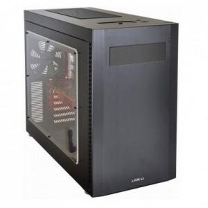 Lian Li PC-A51WX Mid Tower Desktop Case (Black / Black)