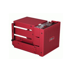 Lian Li EX-33R1 Internal HDD Cage with Meshed Front Panel, 120mm Fan, Red