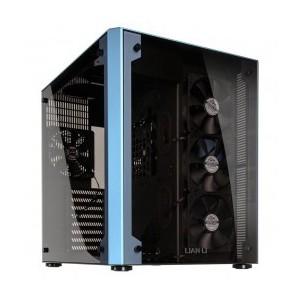LIAN LI PC-O8WBU Blue Aluminum ,and Tempered glass Computer Case