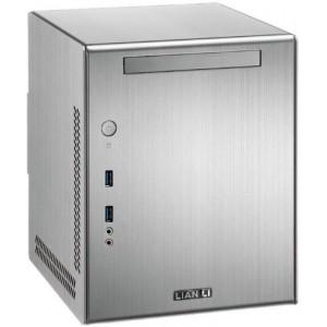 Lian Li PC-Q03A Mini-ITX Cube PC Case (1x 3.5 / 2x 2.5 HDD, 2x USB 3.0) Silver