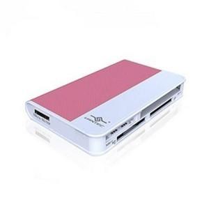Vantec Culor'e 66-in-1 Card Reader, External, USB2.0, Pink
