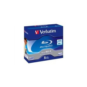 Verbatim 43661 8cm BD-R 7.5GB 2x 5 pack Jewel Cased
