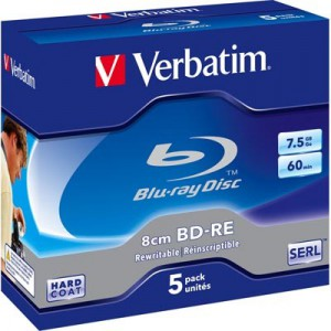 Verbatim 43663 Blu-ray BD-RE (2x) 7.5gb