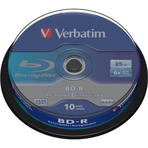 Verbatim BD-R SL 25GB* 6x 10 Pack Spindle