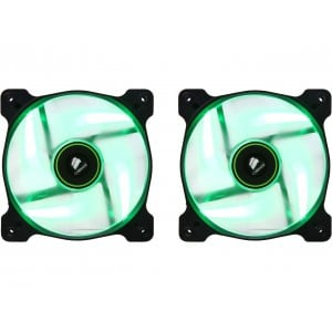 Corsair CO-9050032-WW Air Series SP120 120mm Green LED High Static Pressure Case Fan - Twin Pack