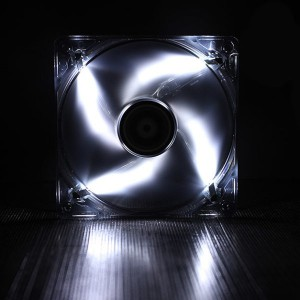 Bitfenix BFF-BLF-14025W Spectre Transparent White LED 140mm FDB Bearing Case Fan