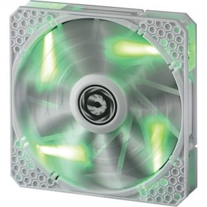 BitFenix Spectre Pro 140mm Green LED Case Fan BFF-WPRO-14025G White