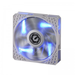 Bitfenix BFF-WPRO-14025B Spectre Pro LED All White with Blue LED 140MM 1200RPM Fan