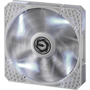 Bitfenix BFF-WPRO-14025W-RP Spectre Pro LED All White with White LED 140MM 1200RPM Fan
