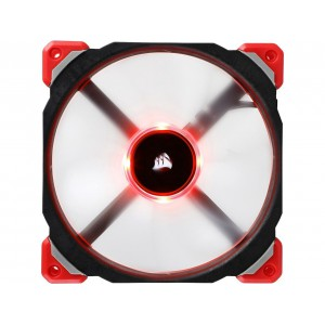 Corsair ML140 PRO LED CO-9050047-WW 140mm Premium Magnetic Levitation PWM Fan RED
