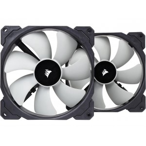 Corsair ML140 CO-9050044-WW 140mm Premium Magnetic Levitation PWM Fan BLACK (2-Pack)
