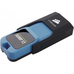 Corsair Flash Voyager Slider X2 Flash Drive, USB3.0, 32GB