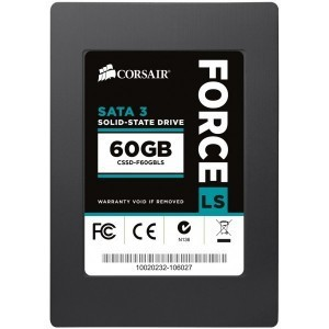 Corsair CSSD-F60GBLS 7mm 60GB Force Series LS SATA 3 Phison Toggle Nand Slim Solid State Drive