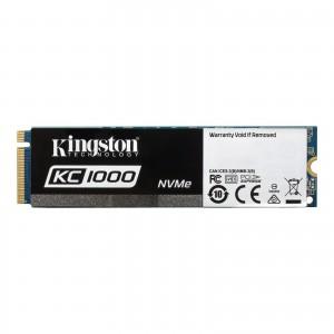 Kingston SKC1000/480G KC1000 NVMe PCIe 480 GB M.2 PCI Express 3.0 Solid State Drive - Black