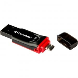 Transcend JetFlash™340 USB2.0 OTG Flash Drive 32GB, Android 4.0+