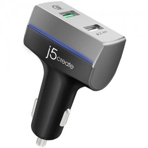 j5create 2-Port USB Quick Charge 3.0 Car Charger