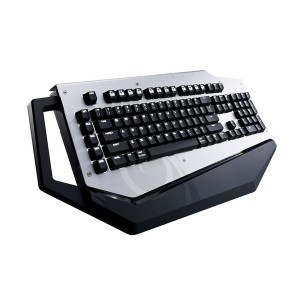 "Cooler Master Mech Gaming Keyboard ""SGK-7000-MBCL1, UK Layout, Full Size, Mechanical, Customisable Aluminium Shell, 2x USB 3.0 Ports, Cherry MX Blue switches, White Led Backlit"