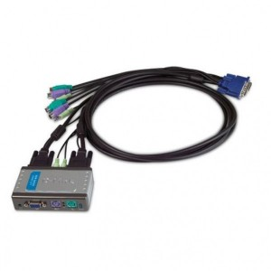 DKVM-121 2-Port PS/2 KVM Switch with Audio Support