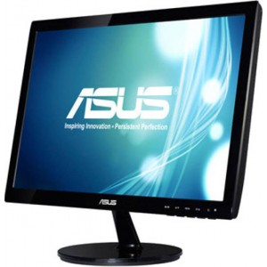 Asus VS197DE Widescreen LED Monitor (1366 x 768, 5 ms, VGA, Excellent Visual Performance) - 18.5 inch, Black