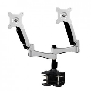 Aavara AC742 Free-Style Stand, Dual Displays, Clamp Base, for LED/LCD Monitors