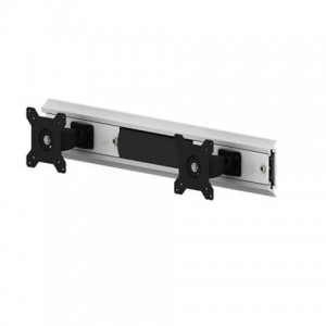 Aavara V6721 Wall-Mount Column Rail System for 2x Display (Vertical or Horizontal)