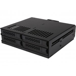 Icy Dock MB324SP-B Black 4-bay hot swap SAS/ SATA Drive Enclosure Internal Express Cage