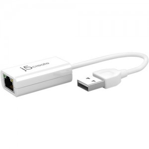 J5create JUE125  USB 2.0-to-10/100 Ethernet Adapter - White