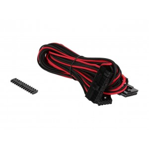 Corsair CP-8920162 Premium Individually Sleeved ATX 24-pin( Red/Black) Cable