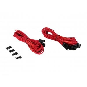 Corsair CP-8920181  Red Premium Individually Sleeved PCIe Cables With Dual Connectors