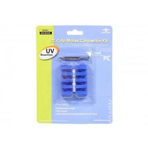 Vantec MCK-10UV-BL Molex Connector Kit, BLUE UV