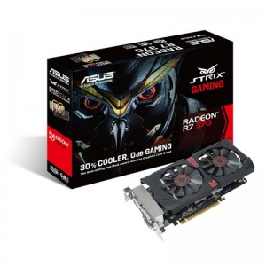 Asus STRIX7370-DC2-2 STRIX GAMING EDITION OVERCLOCKED 2GB 256-Bit GDDR5 PCI Express 3.0 HDCP Ready CrossFireX Support Graphic Video Card