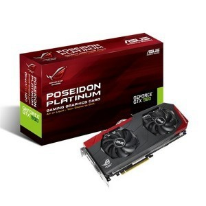 Asus POSEIDON-GTX980 4GB 256-Bit GDDR5 PCI Express 3.0 HDCP Ready SLI Support Gaming Video Card