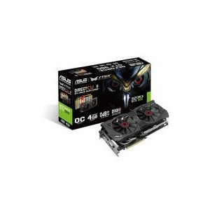 Asus STRIX-980-DC2OC Overclocked 4 GB DDR5 256-bit DisplayPort HDMI 2.0 DVI-I Graphics Card