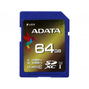 Adata ASDX64GXUI3CL10 XPG 64GB Secure Digital Extended Capacity (SDXC) Flash Card