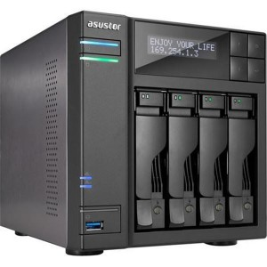 4-Bay NAS/ Intel Celeron Quad-Core/ 4 GB SO-DIMM DDR3L/ GbE x 2/ USB 3.0 & eSATA/ WoL/ System Sleep Mode/ AES-NI hardware encryp