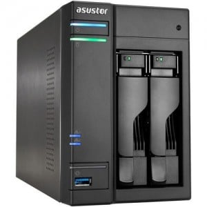 2-Bay NAS/ Intel Celeron Dual-Core/ 2 GB SO-DIMM DDR3L/ GbE x 2/ USB 3.0 & eSATA/ WoL/ System Sleep Mode/ AES-NI hardware encryp