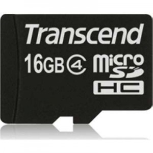 Transcend 16GB MicroSD Card (With Adapter) - CLASS 4